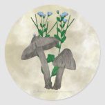 Grey Mushrooms and Flax Stickers