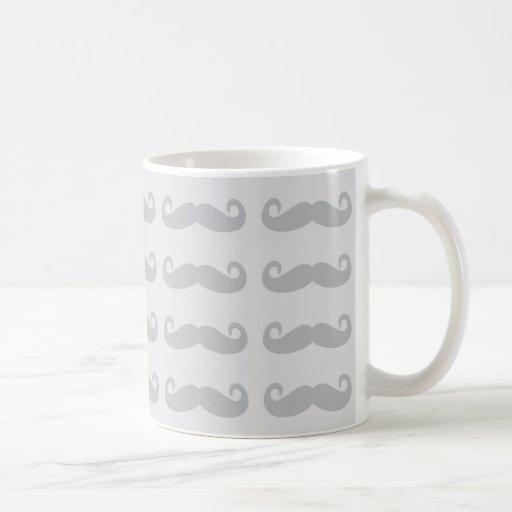 Grey Mustache Classic White Coffee Mug