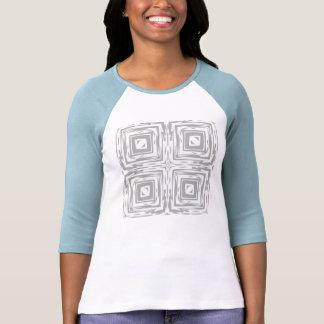 Grey n White Ladies Three-Quarter Sleeve T-Shirt