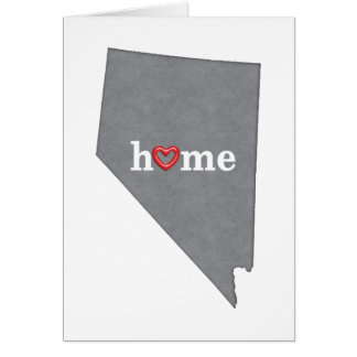 Grey NEVADA Home & Open Heart Greeting Card