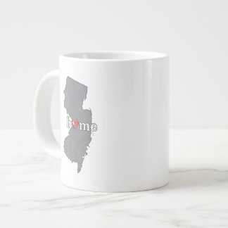 Grey NEW JERSEY Home & Open Heart Large Coffee Mug