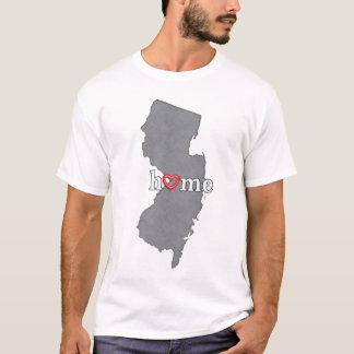 Grey NEW JERSEY Home & Open Heart T-Shirt