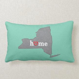 Grey NEW YORK Home & Open Heart Lumbar Pillow