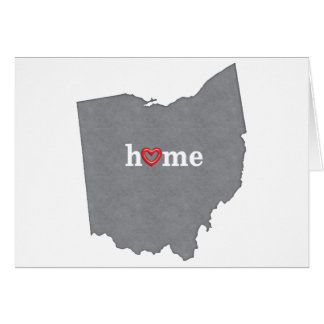 Grey OHIO Home & Open Heart Greeting Card