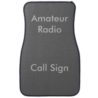 Grey on Charcoal Amateur Radio Call Sign Car Mat