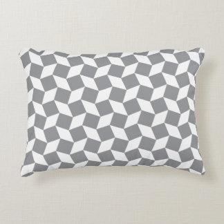 Grey Op Art Pattern Accent Pillow