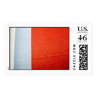 Grey Orange Abstract - Postage Stamp