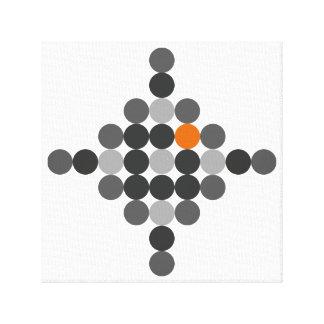 Grey + Orange Geometric Art Canvas Print