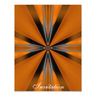 Grey Orange Rust Geo Shapes Card