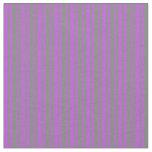 [ Thumbnail: Grey & Orchid Pattern Fabric ]