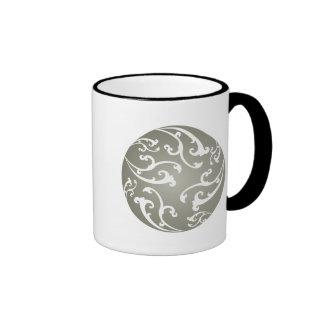 Grey Ornamental Pattern Mug