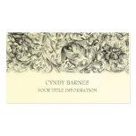 Grey Ornate Baroque Business Card