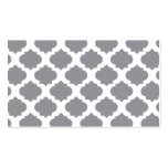 Grey Ornate Pattern Double-Sided Standard Business Cards (Pack Of 100)