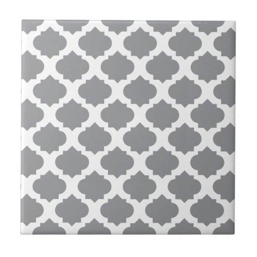 Grey Ornate Pattern Ceramic Tile