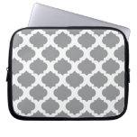 Grey Ornate Pattern Laptop Sleeve
