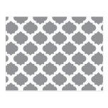 Grey Ornate Pattern Postcard