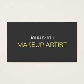 Grey Out Makeup Artist Business Card