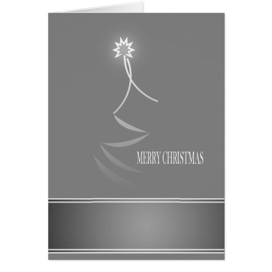 Grey Out of the Box Merry Christmas Card