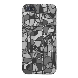 Grey Ovals iPhone Case