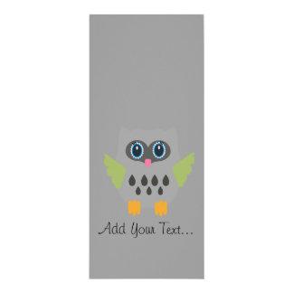 Grey Owl 4x9.25 Paper Invitation Card
