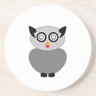 Grey owl- bird of prey drink coasters