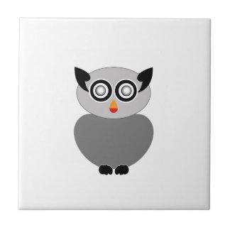 Grey owl- bird of prey ceramic tile