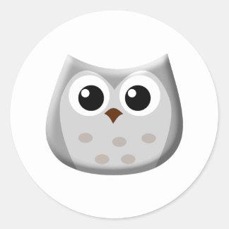Grey Owl Classic Round Sticker