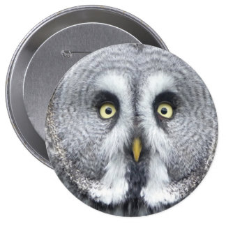 """""""Grey owl"""" design gifts and products 4 Inch Round Button"""