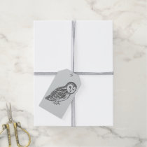 Grey Owl Pack of Grey Gift Tags