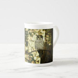 Grey Owl Painting Tea Cup
