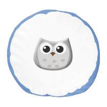 Grey Owl Pouf Pillow