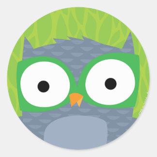 Grey Owl - Woodland Friends Classic Round Sticker