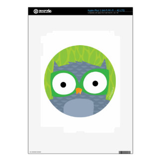 Grey Owl - Woodland Friends Decals For iPad 3