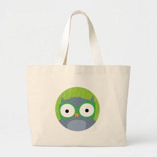 Grey Owl - Woodland Friends Large Tote Bag