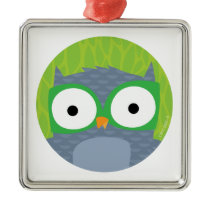 Grey Owl - Woodland Friends Metal Ornament