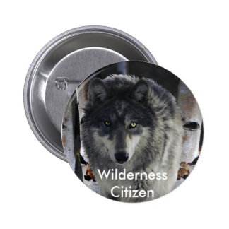 GREY PACK WOLF Collection 2 Inch Round Button