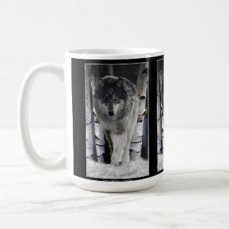 GREY PACK WOLF Wildlife Gift Mugs