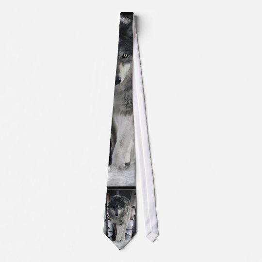Grey Pack Wolf Wildlife Tie