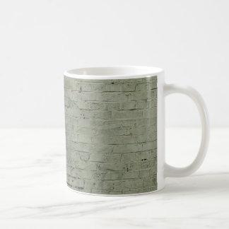 Grey Painted Brick Wall Texture Background Coffee Mug