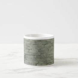 Grey Painted Brick Wall Texture Background Espresso Cup