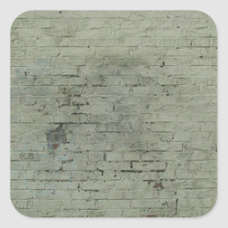 Grey Painted Brick Wall Texture Background Square Sticker