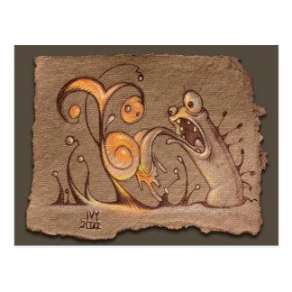 Grey Paper Sketch: Taster Post Card