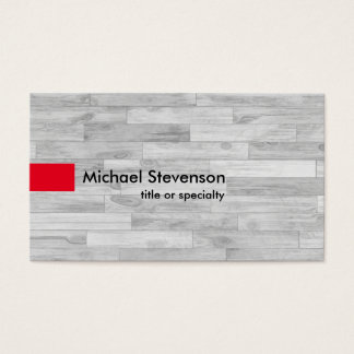 Grey Parquet Red Modern Unique Consultant Business Card