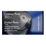 Grey Parrot Business Card Template