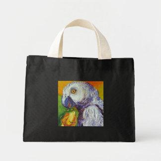 Grey Parrot & Mango Mini Tote Bag
