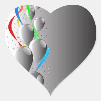 Grey Party Heart Sticker