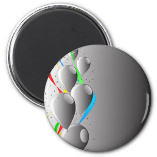Grey Party Magnet