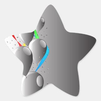 Grey Party Star Sticker