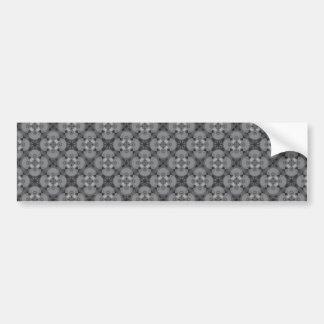 Grey Pattern Car Bumper Sticker