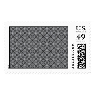 Grey Pattern Postage Stamps